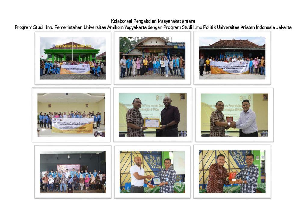 Kolaborasi Pengabdian Masyarakat antara Program Studi Ilmu Pemerintahan Universitas Amikom Yogyakarta dengan Program Studi Ilmu Politik Universitas Kristen Indonesia Jakarta
